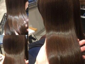 髪質改善ヘアエステサロン スロウ(SLOW by opsia)の写真/施術を繰り返すたびに髪がキレイに、扱いやすくなる喜びの変化。ダメージレスにお気に入りのカラーへ!