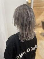 【rocks】デザイン ウルフカット ブリーチカラー