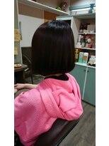 ヘアサロンアンドリラクゼーション マハナ(Hair salon&Relaxation mahana)スウィートボブ♪ベリーショコラでツヤツヤの髪に!