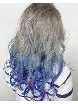 《デザインカラー》派手髪×ユニコーン×無造作カール