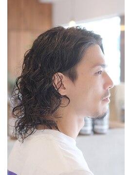 ディライトヘア 六甲道店(DELIGHT HAIR)大人な黒髪ロング!ツーブロック×パーマスタイル