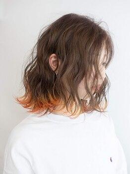 バイテン 久喜(X10)の写真/新色入荷中☆話題のカラー剤edol(エドル)を使用した人気のダブルカラーでクリアな発色&柔らかい質感へ♪