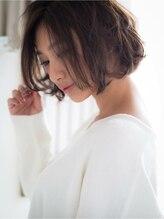キープへアデザイン(keep hair design)【keep hair design】フェミニンボブ×アプリコットベージュ