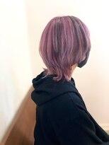 【Noci】ウルフカット/紫/メッシュ