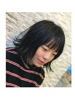 ヘアーチェリーコーク ランプ(HAIR CHERRY COKE Lamp)【新開】黒髪外ハネミディ