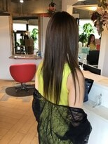 ヘアラボウィッシュ(hair labo Wish)インナーカラーグリーン♪