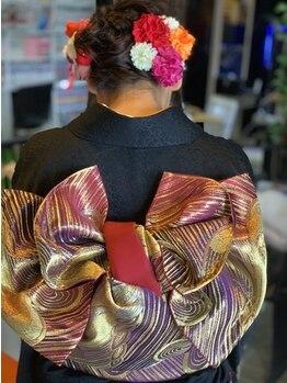 """ヘアーセレクトチャーム(HairSelectCHARM)の写真/《着付け専門スタッフ在籍☆》""""着付け&ヘア""""で、大切な日を素敵に可愛くプロデュース♪"""