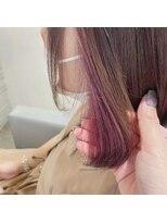 ヘアーエスクールフェイス(hair S. COEUR face)暖色インナーカラー