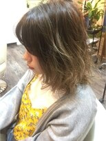 ハロ (Halo hair design)アッシュグレー☆グラデーションカラー