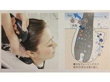 マイクロバブルと炭酸泉による美髪強化