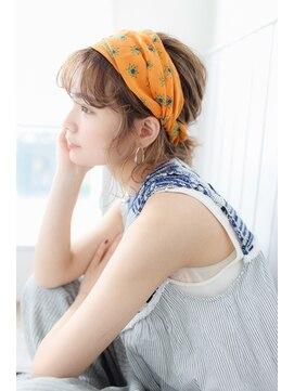 プラグ バイ ネオリーブ(plug by neolive)ボブヘアアレンジ スカーフアレンジ 横浜美容室