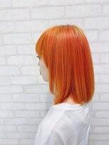 ビス ヘア アンド ビューティー 西新井店(Vis Hair&Beauty)オレンジ/ブリーチ/レイヤー/ボブ/艶感ストレート/10代20代/小顔