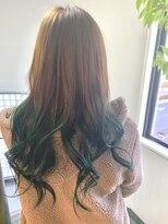 ヘアーメイク プリュム(Hair make Plume)ビビッドなグリーン