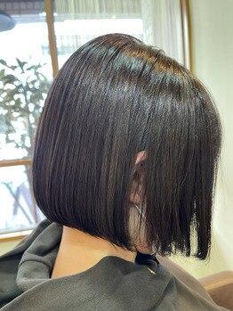 ベルヘアー あびこ店(Belle hair)の写真/白髪染めも理想の色味でお洒落に楽しめる!暗めから明るい色味まで白髪をしっかりカバーし綺麗な髪色に♪