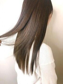 フィゼル 福島店(fizelle)の写真/【福島/Aujua認定】[神コレ・ar]カット+全体縮毛矯正+AujuaSP TR¥7990♪うるツヤ髪が叶う!