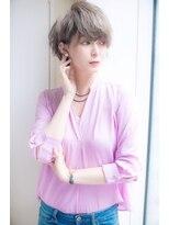 【lond 本田奈穂美】美シルエットのグレージュショートヘア