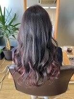 インナーカラーピンク×艶髪アッシュブラウン