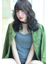 ラファンジュ ヘアーブラン(Rohange hair Blanc)【Blanc】ディープブルー×エッジウェーブ
