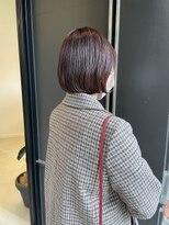 ヘアーアイスカルテット(HAIR ICI QUARTET)ボブ×ピンクブラウン