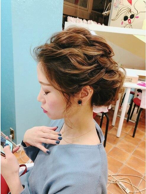 前髪斜め上げアップ L027355237 ヘアセットサロン アッシュ 神戸