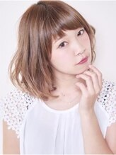 ハッチ ヘアーファクトリー 東松山店(hacchi Hair Factory)かわいいアッシュカラー×ふんわりラフカール×フェザーボブ