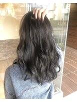 ヘアメイク シュシュ(Hair make chou chou)大人かわいい前髪ココアブラウンフリンジウェーブ20代30代