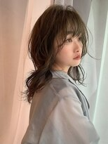 イトシテ【 ナチュラルロングウルフ × オリーブカラー 】浅野美紀