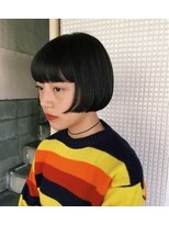 ピープル(people)[people]広めの前髪と前上がりのミニボブ