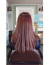 ヘアサロンアンドリラクゼーション マハナ(Hair salon&Relaxation mahana)ベリーピンクでスウィートな雰囲気のロングスタイル♪