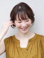 七ッ星+耳かけひし形ショートボブ