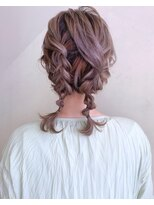 ピエドプールポッシュ(PiED DE POULE POCHE)* arrange hair *  編み込みツインテール