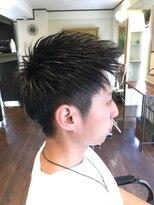 フェリーク ヘアサロン(Feerique hair salon)アップバングナチュラルツーブロック