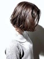 【ADDICT_YuuYa】大人ボブ/センターパート/グレージュカラー