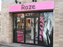 ヘアー ロゼ(hair Roze)の雰囲気(ピンクの看板が目印♪)