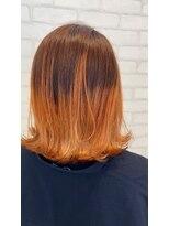 ビス ヘア アンド ビューティー 西新井店(Vis Hair&Beauty)グラデーションカラー/ブリーチ/オレンジ/ミディアム
