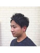 メンズ レオ 天六店(men's LEO)【ビジカジ】ツーブロックネープレスアップバングビジネス