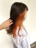 ラガッツァ(La ragazza)インナーカラーオレンジ