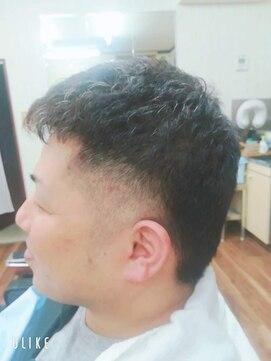 理容吉村コテパーで創るツーブロックヘア