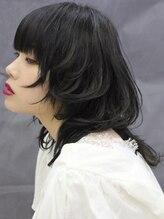 オリーブ ヘアー フィール(OLIVE hair feel)マッシュウルフ/ウルフカット/ブルーブラック