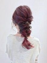 アリス ヘア デザイン(Alice Hair Design)Alice☆ピンク×カーキのマーブルアレンジ