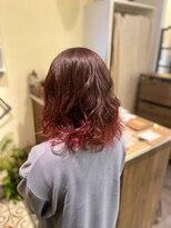 ヘアーメイク アフィーノ(hair make affino)裾カラー