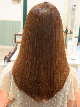 """リノ ヘア(Lino hair)の写真/まとまりやすくナチュラルな仕上がり!ダメージを最小限に抑えた""""ストレートサプリ""""でクセ毛の悩み解消♪"""