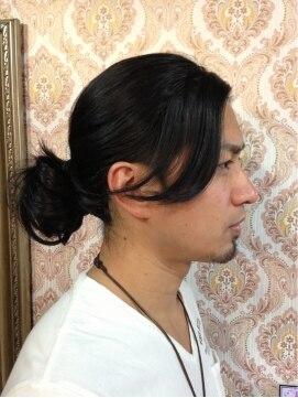 men's エクステ 坂本竜馬風