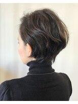 ラトリエコンタン(L´atelier Content)30代40代50代 デザインカラー×コテパーマ小顔ショート