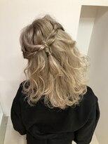 ヘアーライズ 池袋東口店(hair RISE)タイドロープ編みでハーフアップ