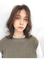 ユーフォリアギンザ(Euphoria GINZA)ひし形シルエットミディ大人かわいいシースルー前髪 担当畑