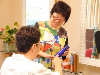 ヘアワークス ヴィヴィ(Hair works ViVi)の写真/髪と頭皮に優しい施術で、幅広い年代から愛されるサロン。ダメージレスなのにしっかり染まるのが嬉しい♪