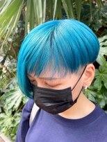 シンゴナカムラ ヘアカラーサロン(SHINGO NAKAMURA HAIR COLOR SALON)ハイトーン★ターコイズブルー 自然光Ver.