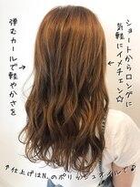 艶髪効果☆とろけるベージュカラー×ゆるふわツヤ巻き☆ #盛岡