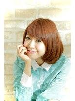 エイミーバイアフロート(amie by afloat)ツルツル艶やか☆ロブマッシュ☆ピンクヴェールカラー